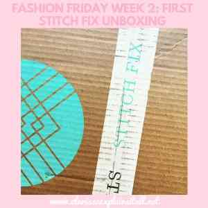 Fashion Friday Week 2: First Stitch Fix Unboxing