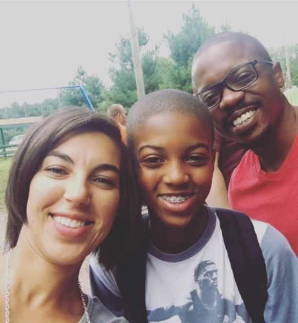 Co-parenting at cadet camp pickup