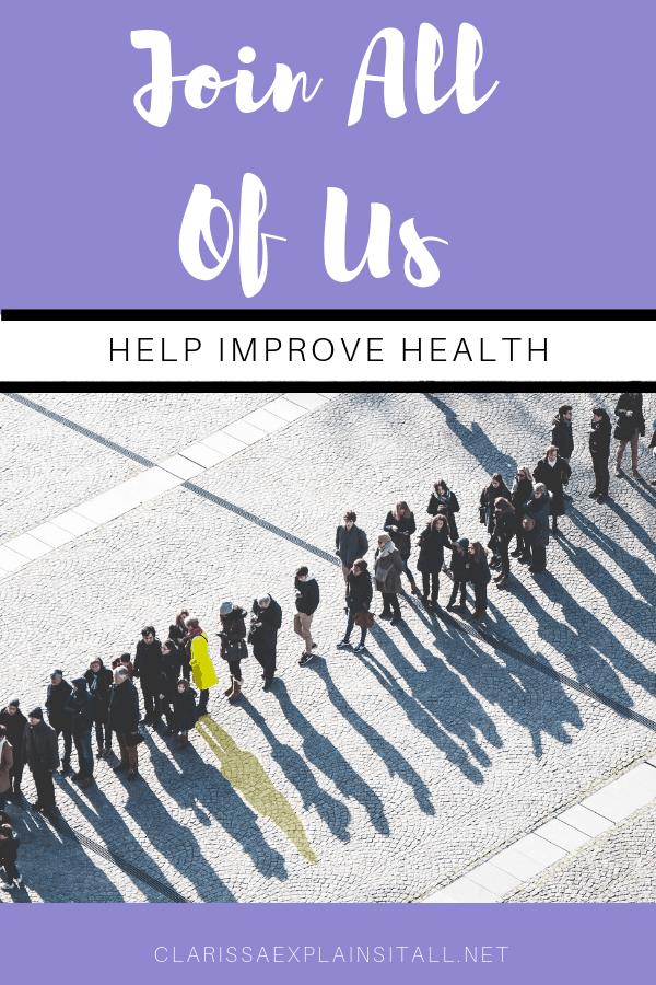 Join All Of Us So You Can Help Improve Health
