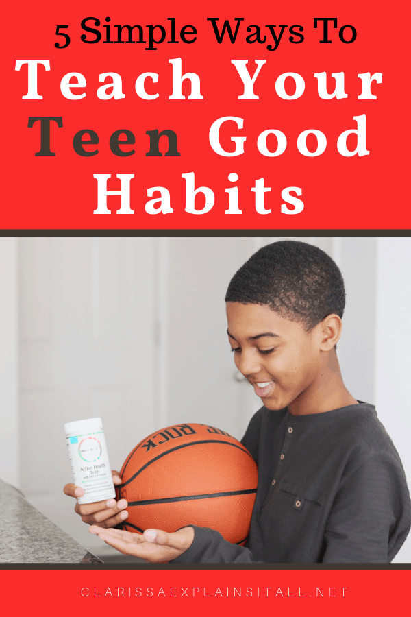 #ad Do you remember what it was like to be a teen? Thanks to Rainbow Light, I want to share about 5 simple ways to teach your teen good habits. #RainbowBoost
