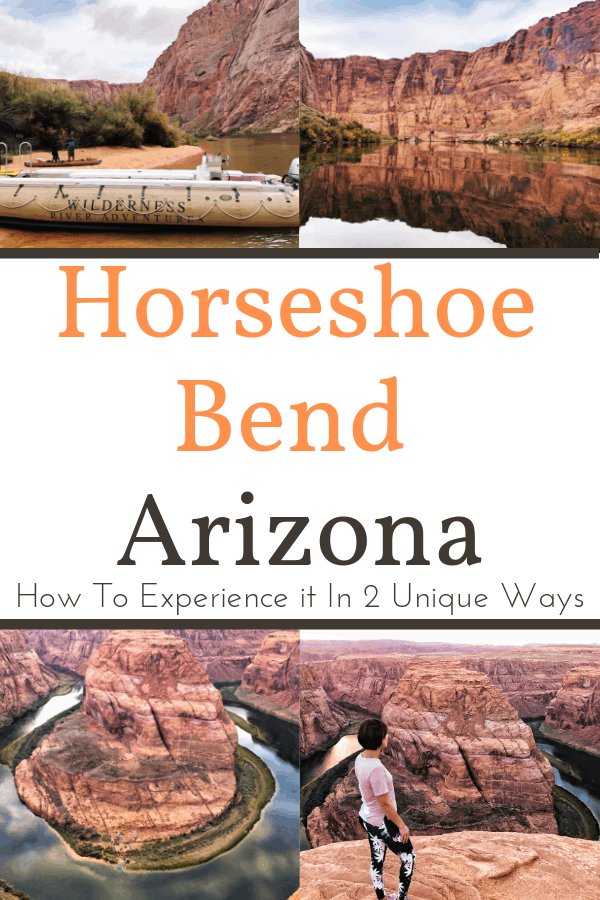 Have you ever visited Horseshoe Bend? Over the past few years Horseshoe Bend has become one of the most photographed natural wonders in the Southwest. Located only about 5 miles from Page, Arizona and the Lake Powell Resorts & Marinas, this impressive horseshoe shaped part of the Colorado River is a must see landmark. Did you know you could experience this popular, natural attraction in more than one way? #traveltips #travel #adventure #travelphotography