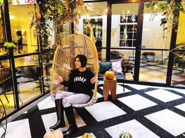 Kimpton DeWitt Amsterdam indoor garden swing