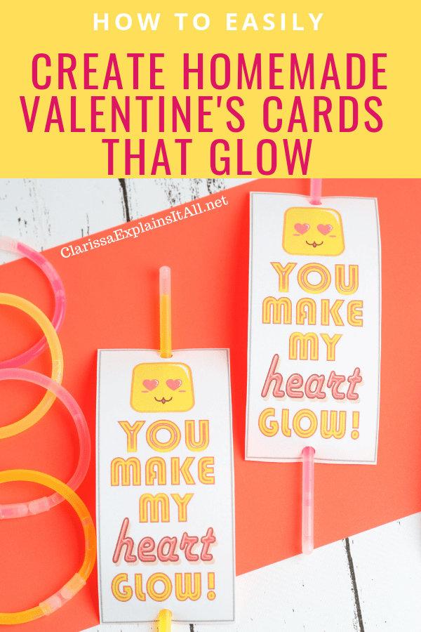 Do you want a simple DIY project to do with your kids for Valentines Day? Learn how to easily create homemade valentines cards that glow.