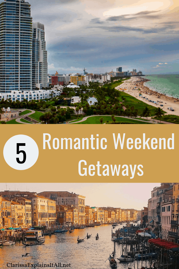 Long weekend getaways are the perfect way to vacation without the stress of planning a long trip. If you're looking for a city filled with romance for your next trip, check out these five amazing cities that are perfect for romantic weekend getaways.