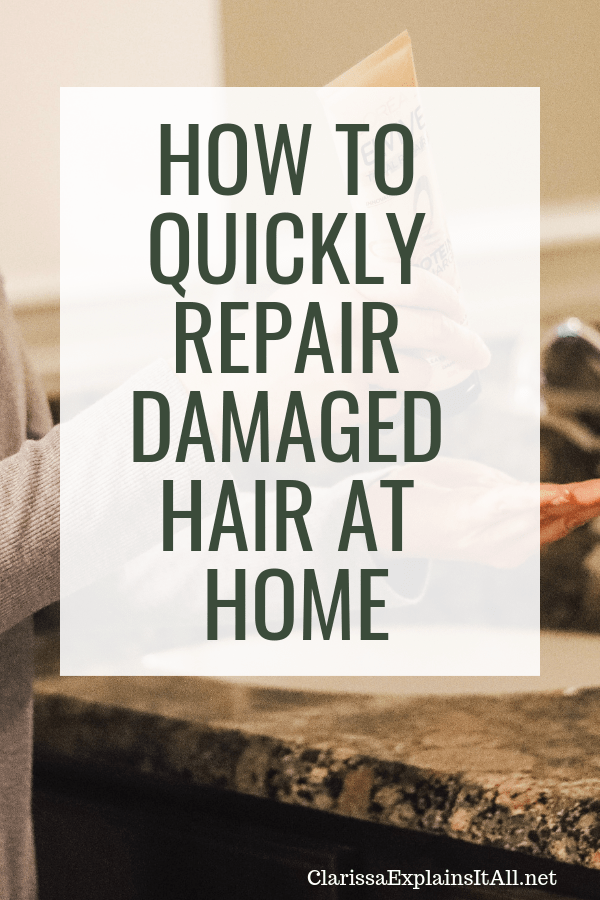 What kind of hair do you have (straight, wavy, curly, thick, thin, oily, damaged)? I am sharing an easy way for how to quickly repair damaged hair at home.