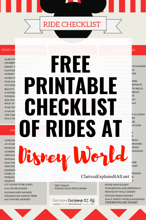Do you know what rides to get on at Disney parks? Here's a Disney World rides must have free printable list to make your Disney days even more magical.