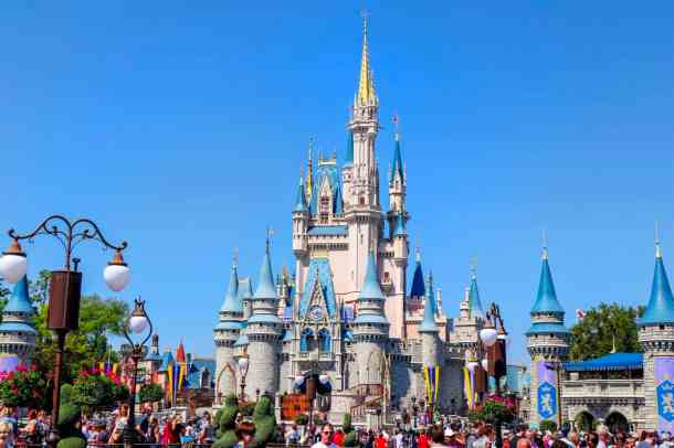 crowded Disney Park Magic Kingdom