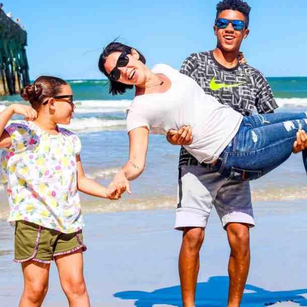 Florida beach day kids
