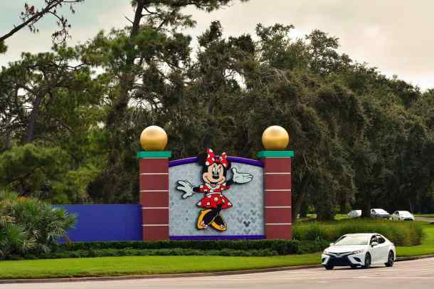 Taking an Uber ride into Disney World