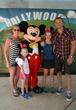 With Mickey, Disneyland Paris
