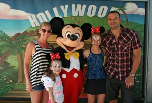 Our family with Mickey Mouse Himself!