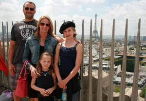 Our family atop the Arc de triomphe
