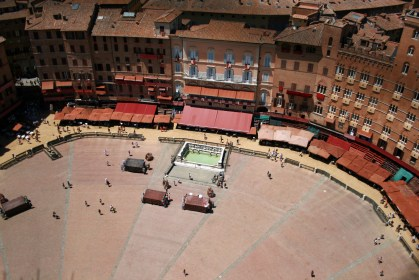Setting up for the Palio, Siena