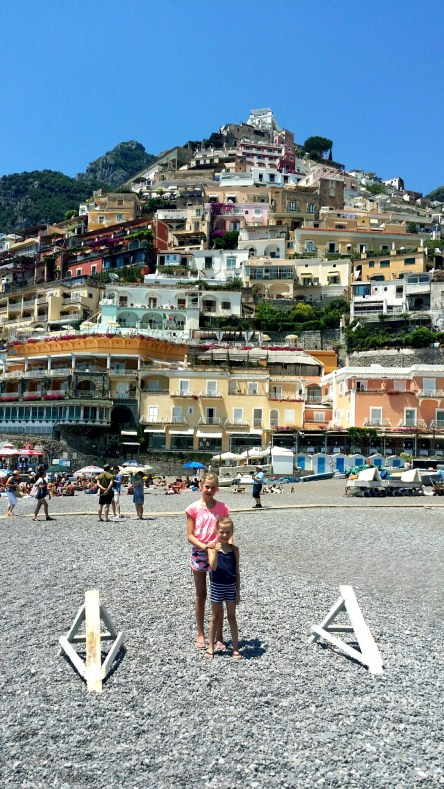 Positano from Grande Beach