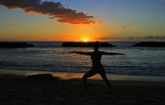 Lagoon Yoga at Sunset