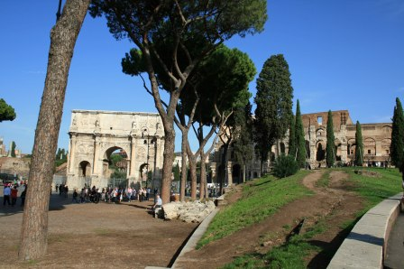 Arch of Constantine and Colosseum