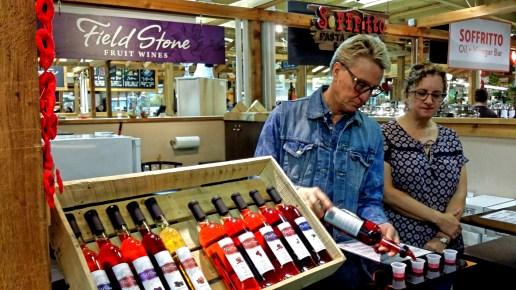 Field Stone Wines Sampling, Calgary Farmer's Market