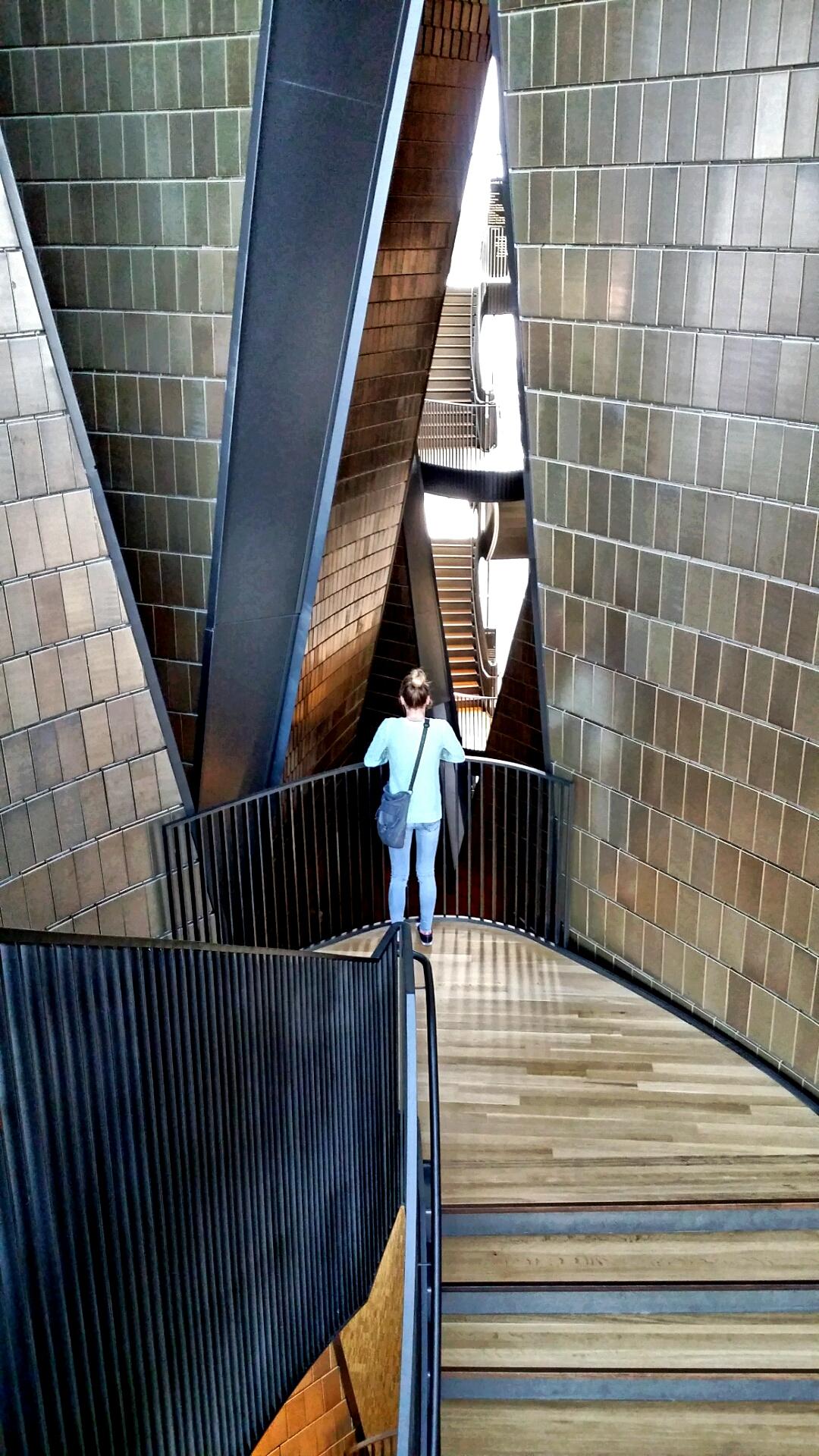 The impressive interior architecture, National Music Centre, Calgary