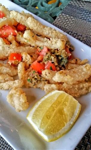 Calamari at Confederation Lounge, Hotel Macdonald
