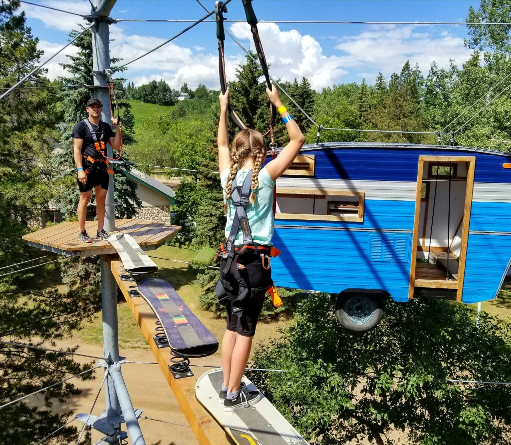 Snow Valley Aerial Park is a newer addition to the list of Best Edmonton Summer Experiences