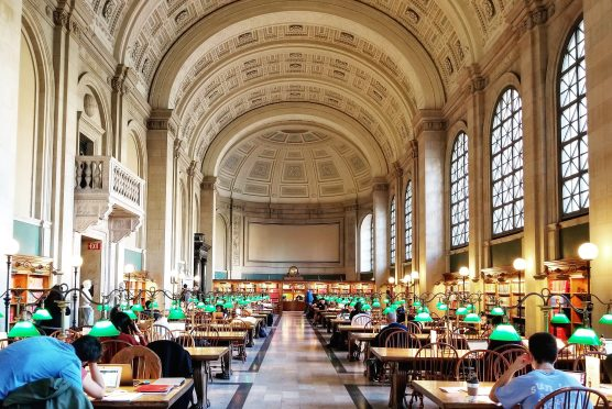Boston Public Library, Reading Room, McKim Building