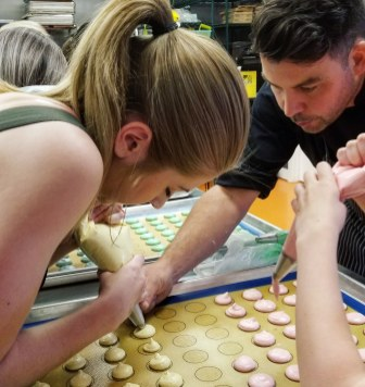 Shaping the macaron shell, Macarons 101 with Ollia