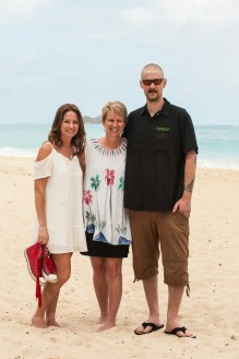 Me, my brother and my Mom, Oahu, Hawaii