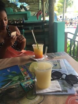 Mango and traditional margaritas