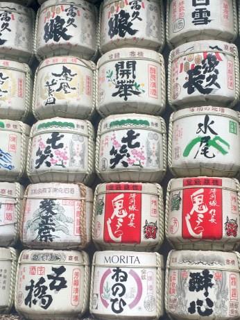 sake barrels in yoyogi park