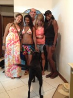 visiting daisy ( 2nd frm left) she was a friend we made