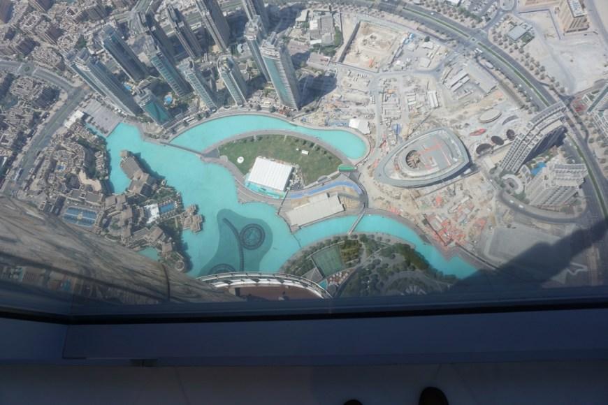 Dubai Fountain from the 148th floor