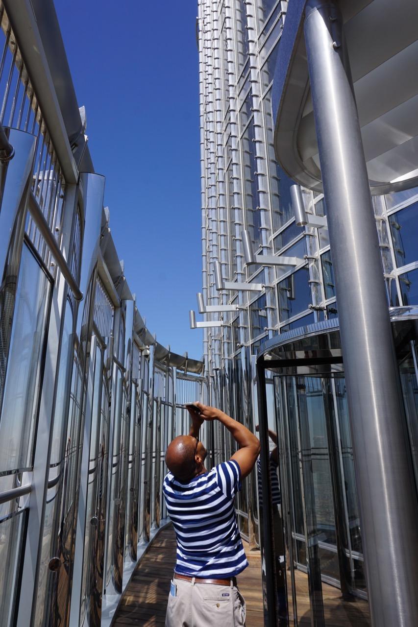 Outside observation deck on floor 148