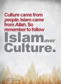 Islam over culture