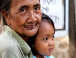 Indonesia : Grandmother with her Granddaughter