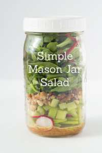 Simple Mason Jar Salad