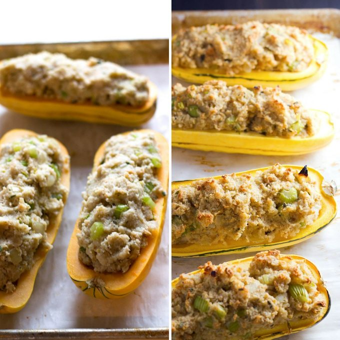 Vegan Cornbread Dressing Stuffed Squash