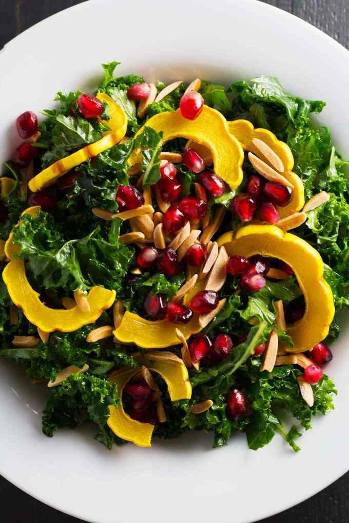 Winter Kale Salad with Orange, Delicata, and Pomegranate