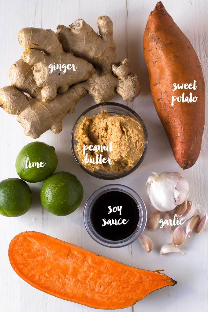 Sneak some fiber and veggies into a sweet and savory sweet potato peanut sauce! Oil-free, vegan, gluten-free, full of flavor! | https://passtheplants.com