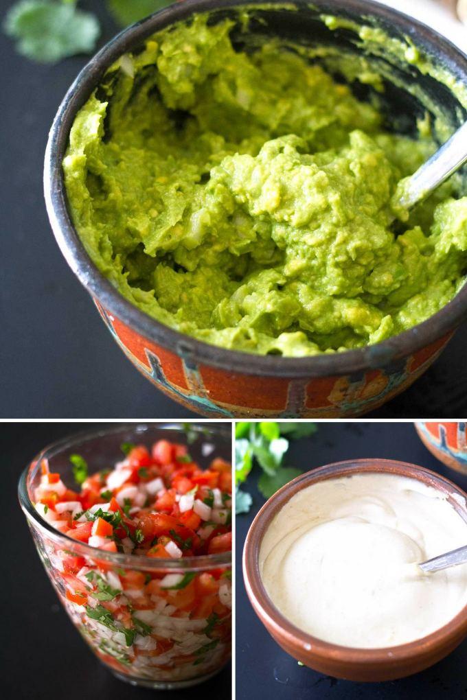 Ultimate Vegan Fajitas | Toppings such as guacamole, pico de gallo, savory cashew cream | https://passtheplants.com/