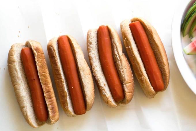 Carrot dogs in buns   Easy Carrot Dogs   Plant-based   Vegan   Recipe   https://passtheplants.com/