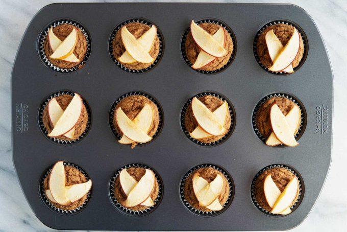 apple cinnamon blender muffins after baking