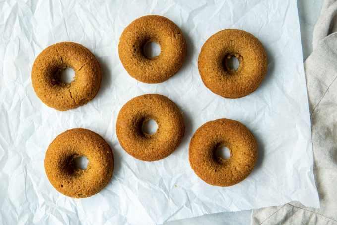 apple cider blender doughnuts after baking