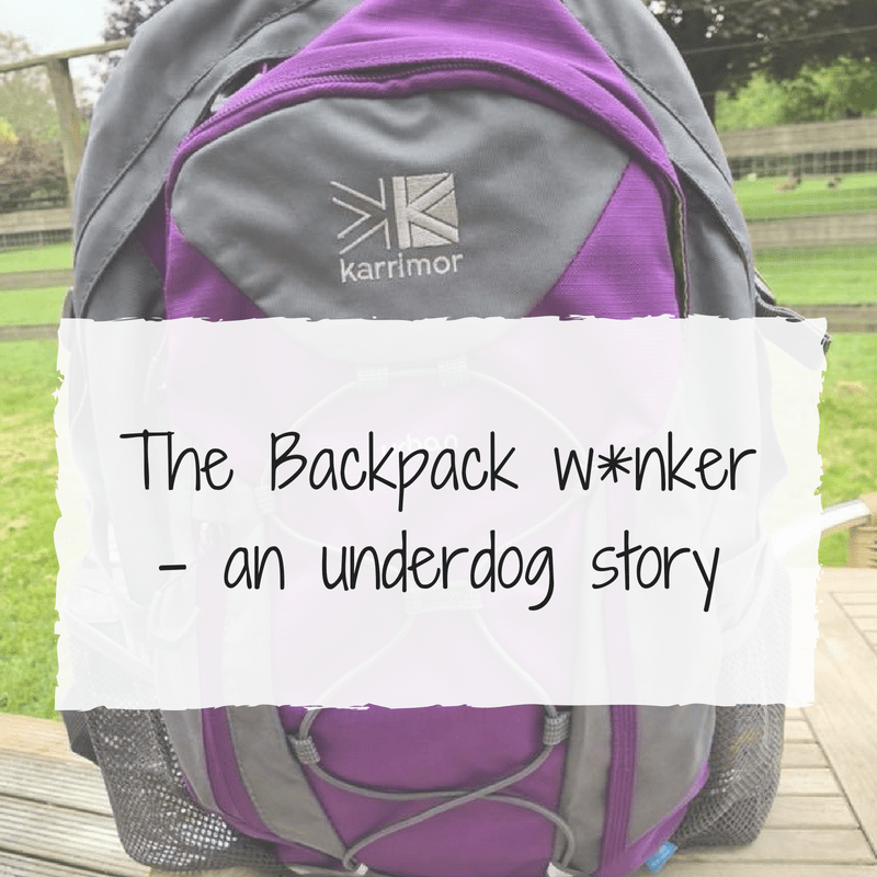 The Backpack W*nker - an underdog story