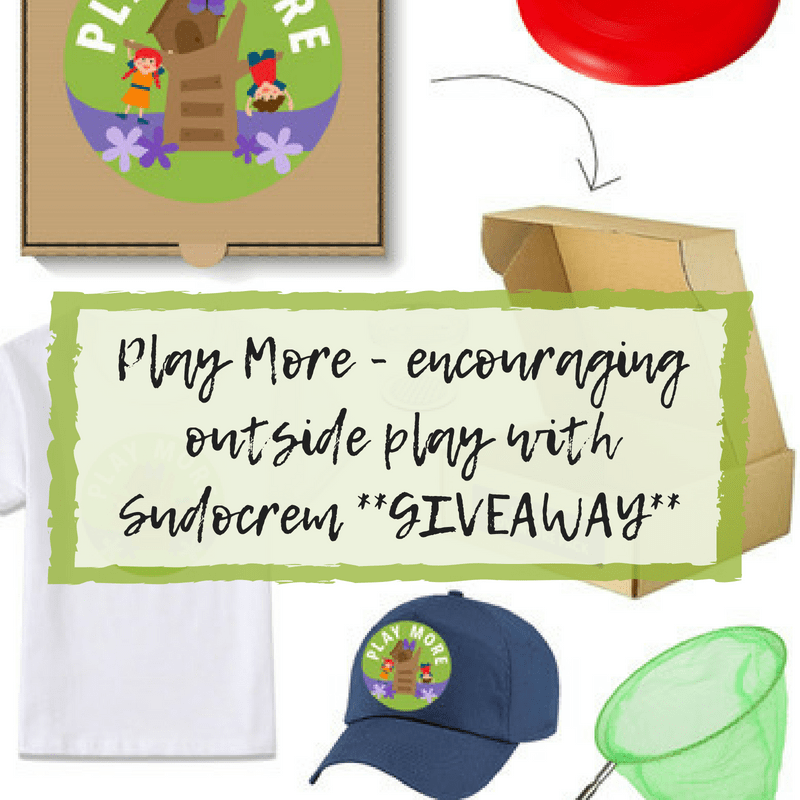 **GIVEAWAY** Play More - encouraging outside play with Sudocrem