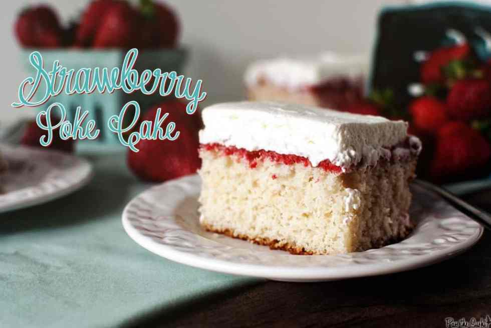 Strawberry Poke Cake {Pass the Sushi}