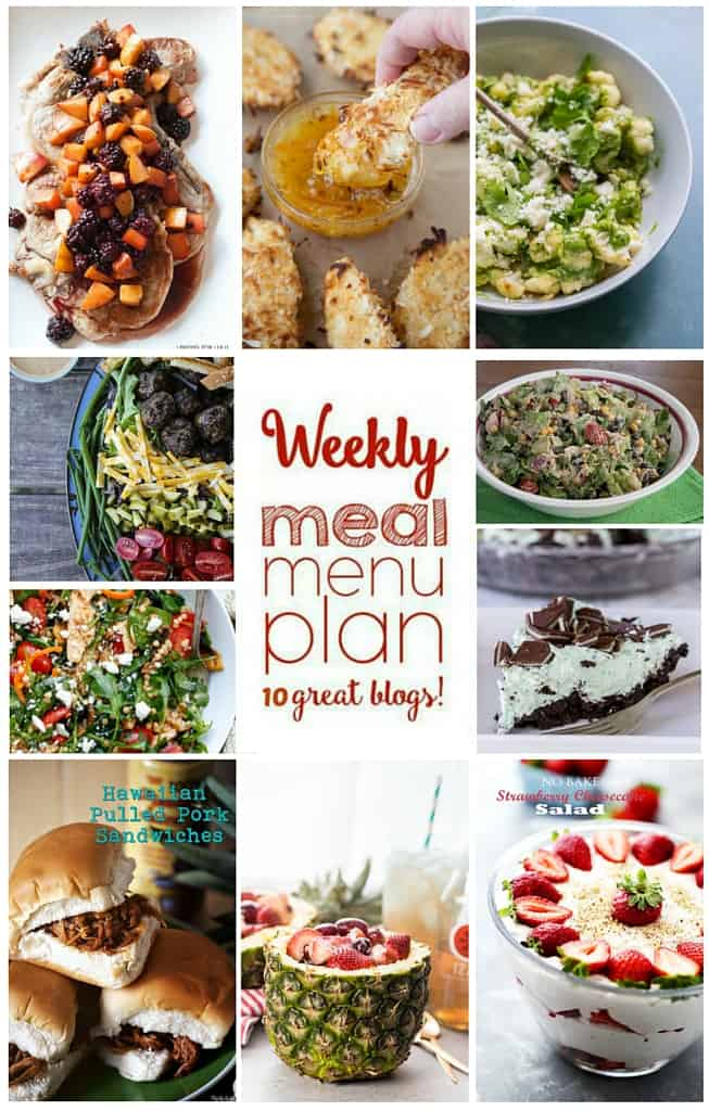 Weekly Meal Plan Week 53 – 10 great bloggers bringing you a full week of recipes including dinner, sides dishes, and desserts!