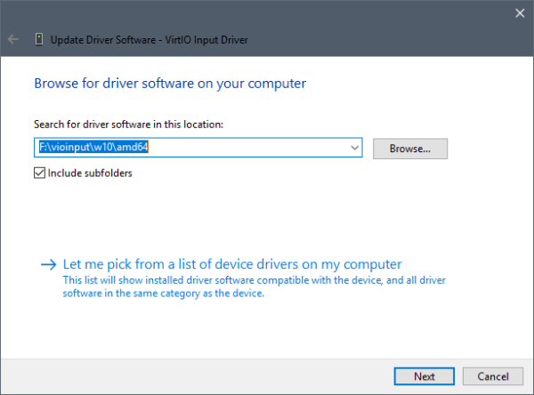 VirtIO Input Drivers
