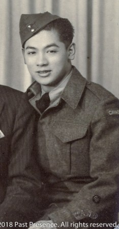 Photo of Cecil Yip in WWII, about Jan 1945.