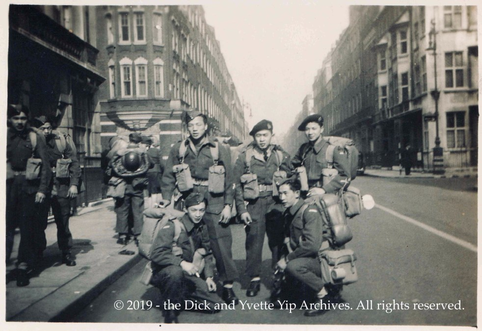 A photo of 5 of the men of Force 136, London, UK. Abt. Mar 1945.