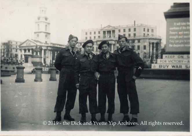 Dick in London Mar 1945 VE00752A